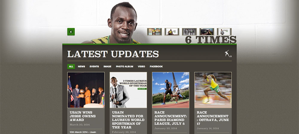 Usain Bolt's Website